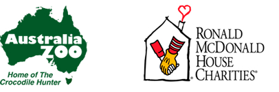 australia zoo and ronald mcdonald house charities logos