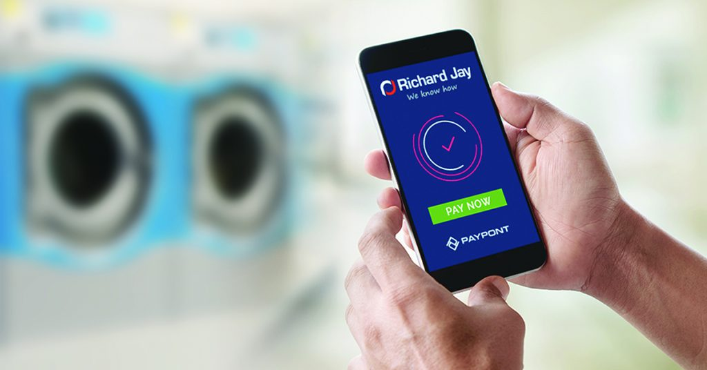 News image e-CleanPay cashless system laundry Richard Jay Australia